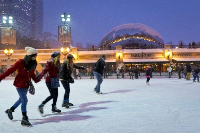 Ice Skating at Millennium Park