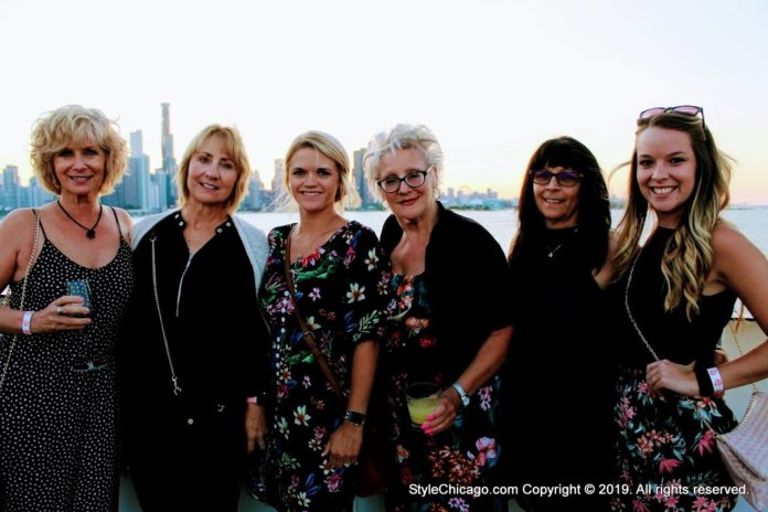 Group of Ladies at StyleChicago.com's Cruise in Style (Dinner Cruise) aboard the Odyssey (2019)
