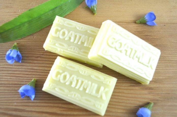 Golden Sapphire - goat milk soap bars