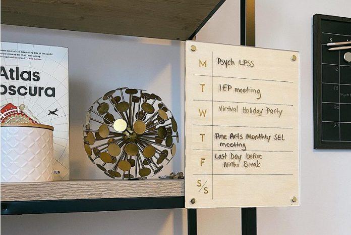 Etchible - Dry Erase Task Board (Birchwood)