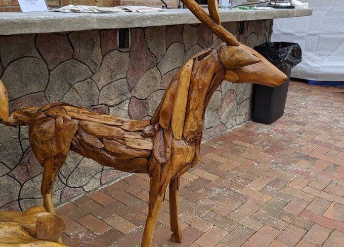 Natural Wonders (Teakwood Deer) at Oak Brook Artisan Market