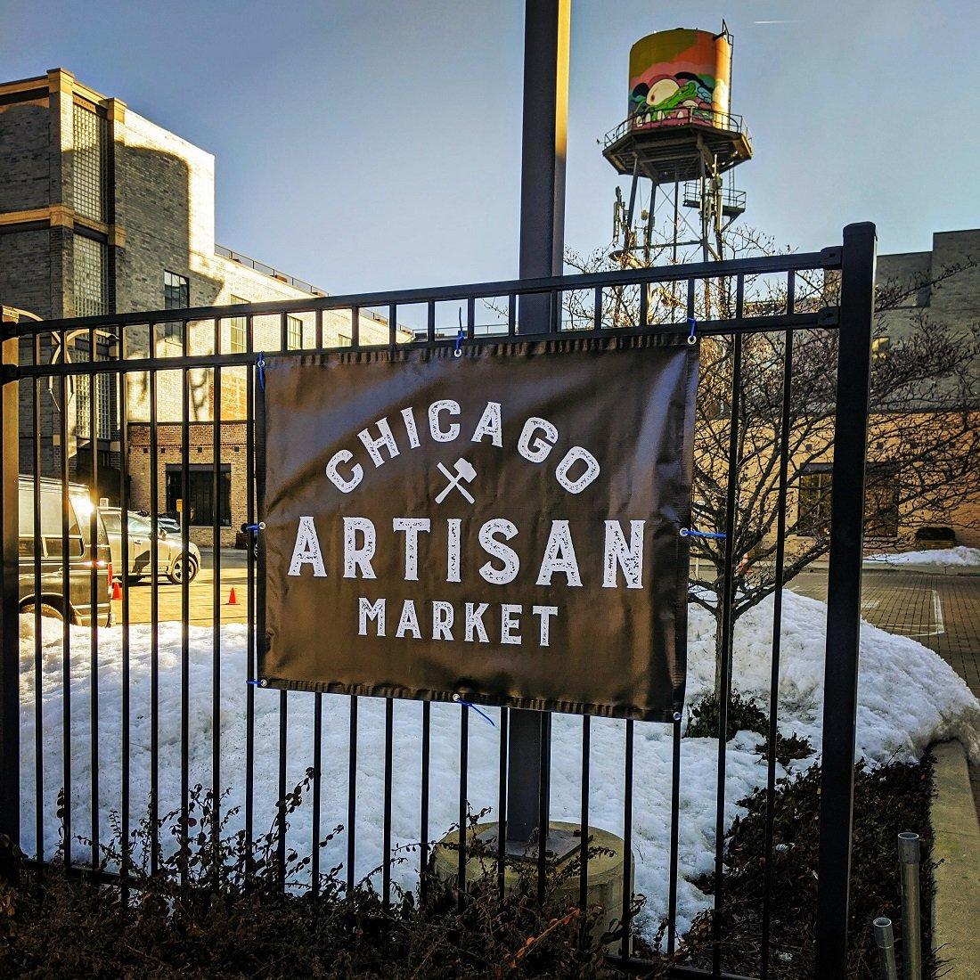 Chicago Artisan Market - Outside Banner