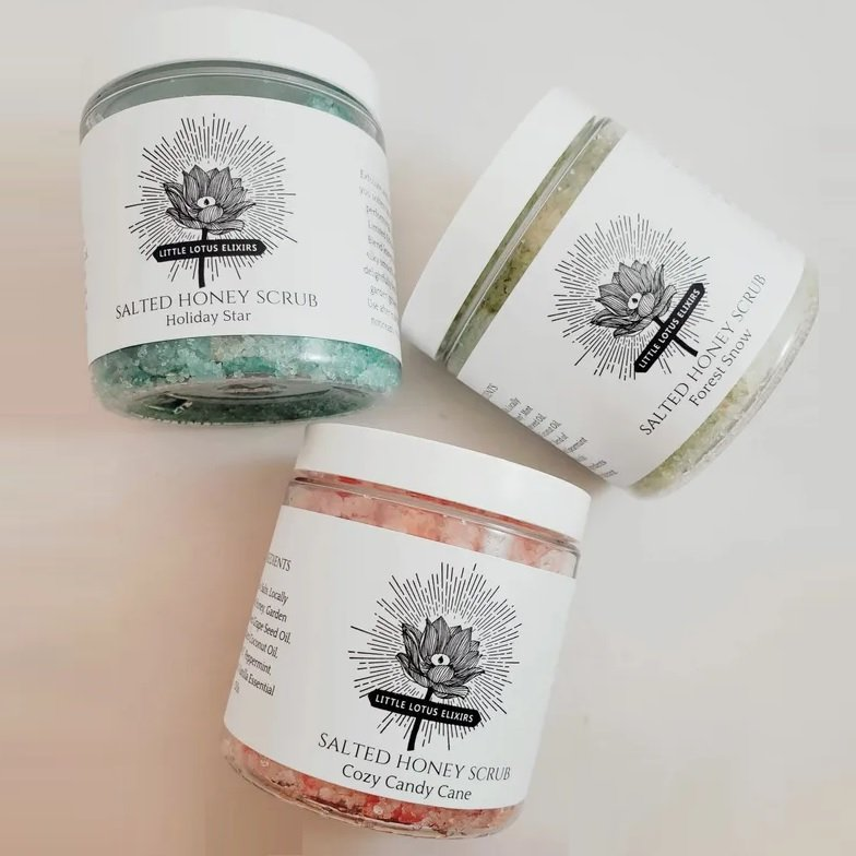 Little Lotus Elixirs honey scrubs