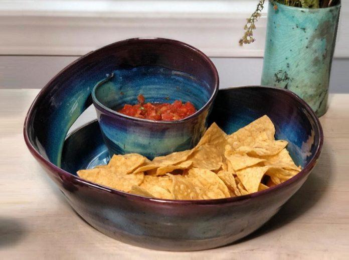 Chip-and-Dip Platter: Glazed Pottery Shop @ Oak Brook Artisan Market (Oak Brook, IL)