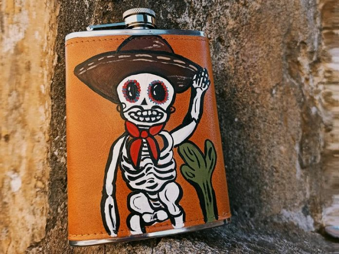 Pasele Senito (day of the dead flask) at Chicago Artisan Market