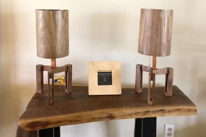 Planning for Humanity (table lamps) at Chicago Artisan Market