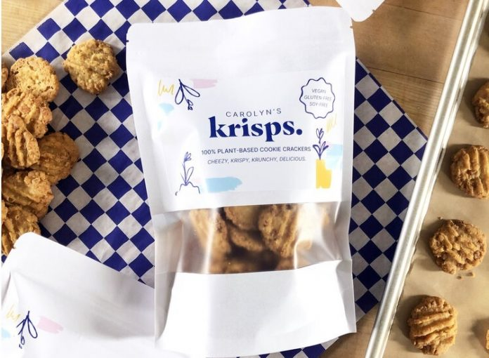 Carolyn's Krisps at Chicago Aritisan Market (Plant-based cookie crackers)
