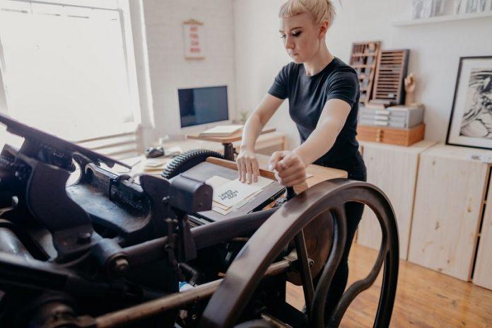 Sarah Bloom Studio at Chicago Artisan Market - letterpress designs