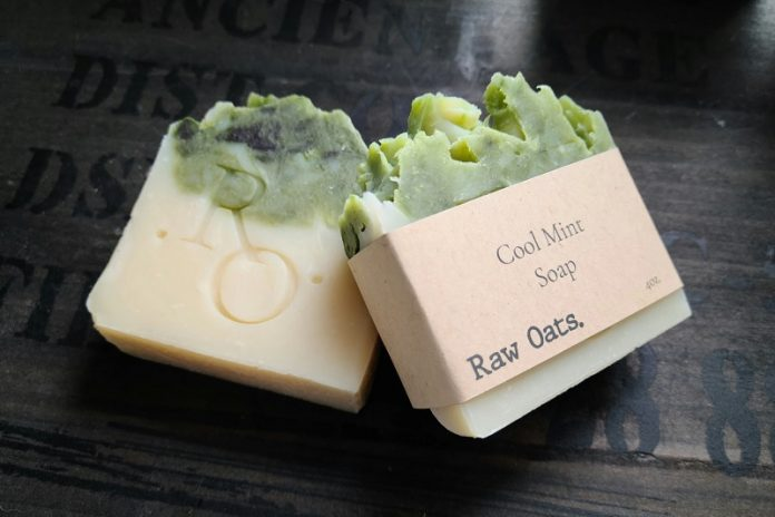 Raw Oats. at Chicago Artisan Market (cool mint soap)